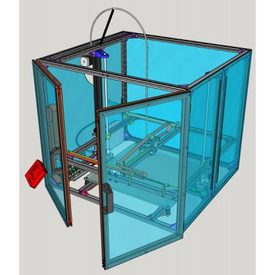 Box in Plexiglass per stampante 3D4040