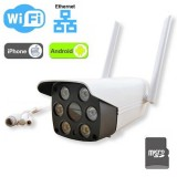 Telecamera Wi-Fi con LED dual light - Audio bidirezionale / SD Card / Ethernet