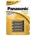 Blister 4 Batterie Alcaline Panasonic Power AAA