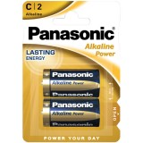 Blister 2 Batterie Alcaline Panasonic Power LR14 C