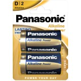 Blister 2 batterie alcaline Panasonic Power LR20 D