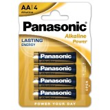 Blister 4 Batterie Alcaline Panasonic Power AA