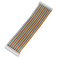 Cavo flat multicolor con 2 connettori F/F 2x20 pin