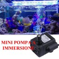 Mini pompa a immersione 5,5-12 VDC 3W