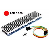 4 Display a matrice 8x8 con MAX7219 - LED Rossi