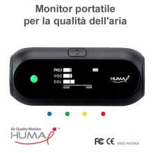 Monitor portatile per la qualità dell'aria (CO2, VOC, PM2.5, PM10)