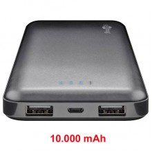 Power Bank Slim 10.000 mAh - 2 porte USB
