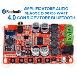 Amplificatore in classe D 2x50W con Bluetooth – montato