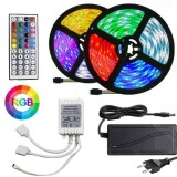 Strip a LED RGB con telecomando e alimentatore - 300 LED - 10 m