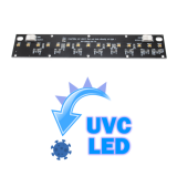 Strip in alluminio con 15 LED UVC