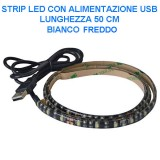 USB Strip 30 LED luce fredda - 180 lumen