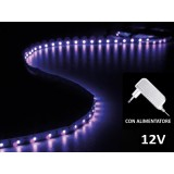 Strip a LED ultravioletti da interno con alimentatore -  300 LED - 5m