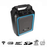 Speaker portatile attivo wireless - MP3 - USB - FM - SD - MIC - KARAOKE - 50W